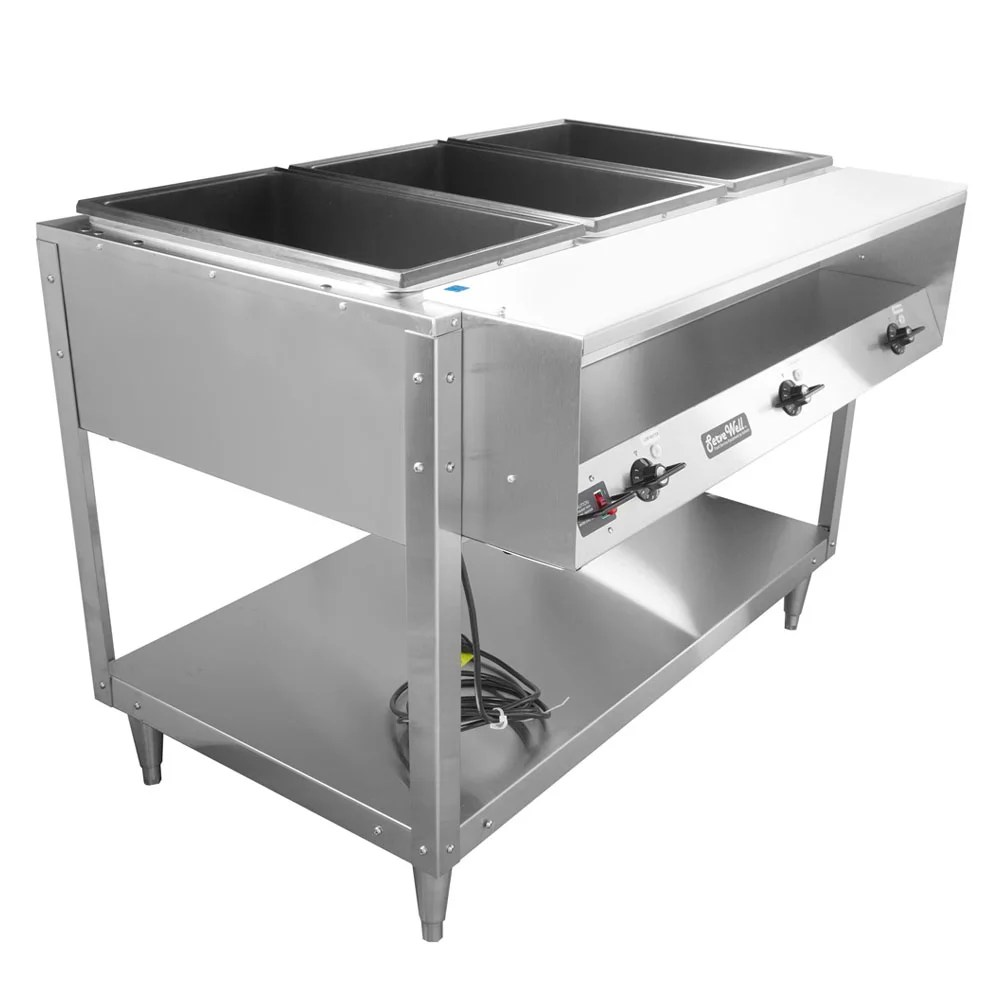 Gambar Oven Gas Vollrath 38003 3 Well Hot Food Table Thermostat Plate Rest Cutting Board 120v