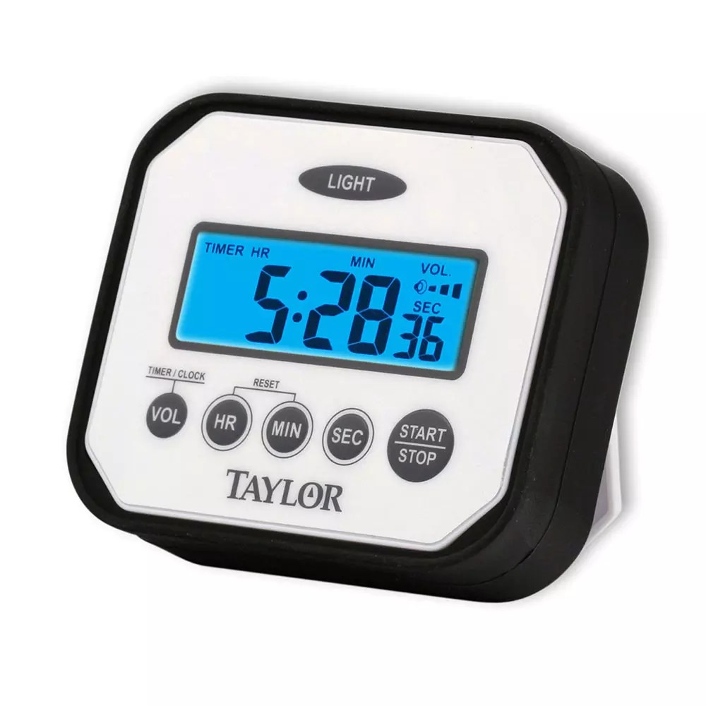 Alarm Timer Taylor 5863 Digital Timer W Adjustable Volume Alarm Water Resistant