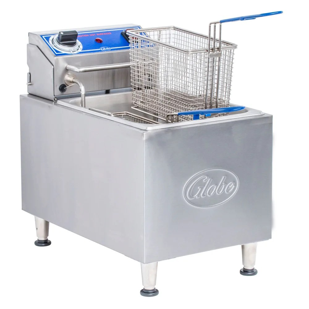 Olievat Bbq Globe Pf16e Countertop Electric Fryer 1 16 Lb Vat 240v 1ph