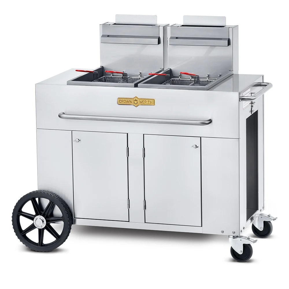 Olievat Bbq Crown Verity Pf 2ng Outdoor Gas Fryer 2 40 Lb Vat Ng