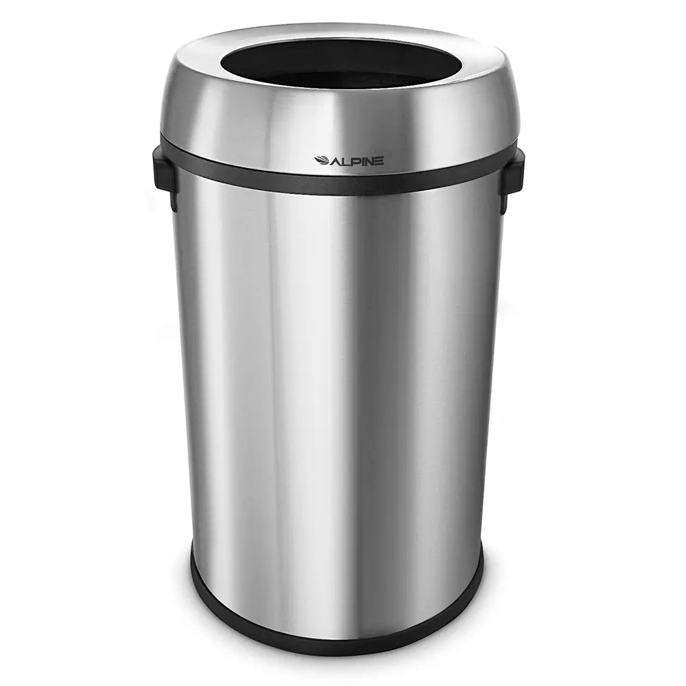 Metal Indoor Trash Can Alpine Industries 470 65l 17 Gal Indoor Decorative Trash Can Metal Stainless Steel