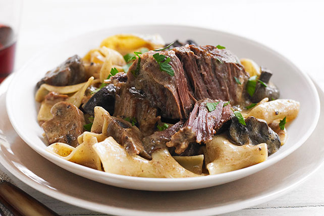 Slow-Cooker Short Rib Stroganoff - Kraft Recipes