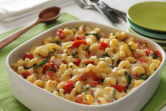 Macaroni & Cheese With Roasted Tomatoes, Bacon & Basil - Kraft Recipes