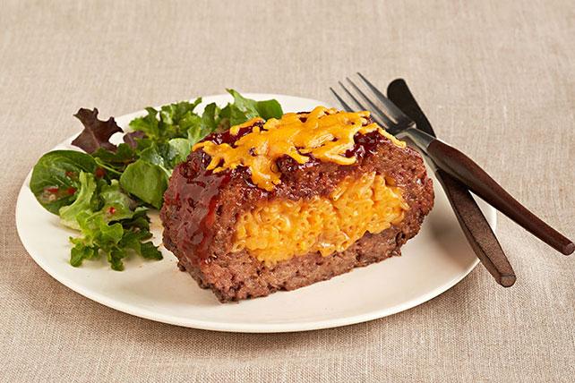 Mac and Cheese Stuffed Meatloaf - Kraft Recipes