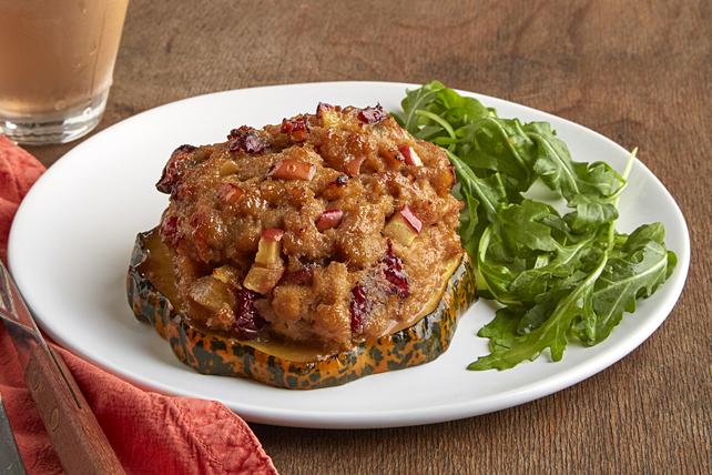Turkey Meatloaf-Stuffed Acorn Squash Rings - Kraft Recipes