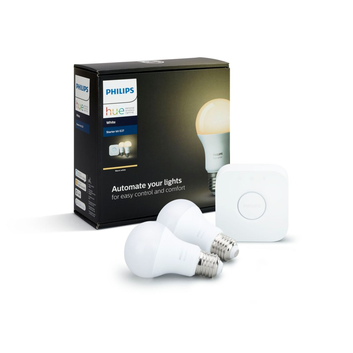Philips Hue Starter Kit E27 Buy The Philips Hue White Starter Kit E27 8718696449592 Starter Kit E27