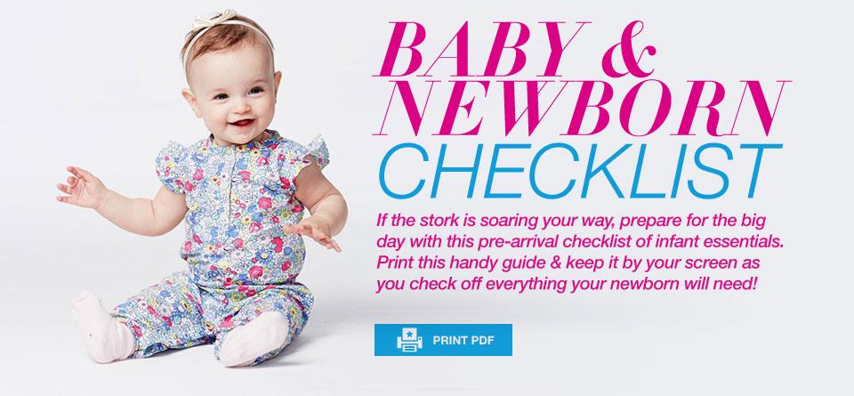 Baby  Newborn Checklist - Macy\u0027s