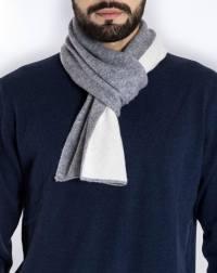 Men's Pure Cashmere Bicolor Scarf | MaisonCashmere