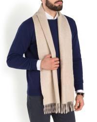 Men's Bicolor Woven Cashmere Scarf | MaisonCashmere