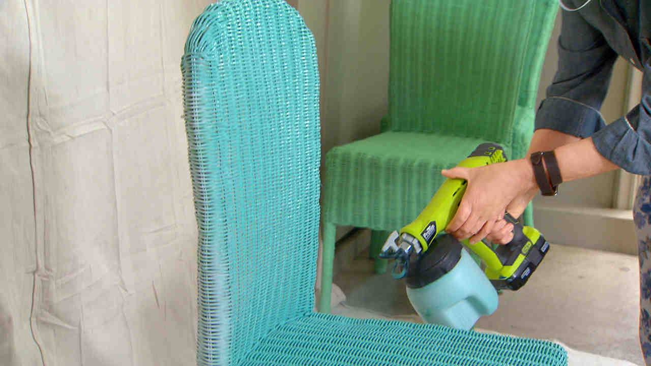Painted Rattan Furniture How To Spray Paint Wicker Chairs