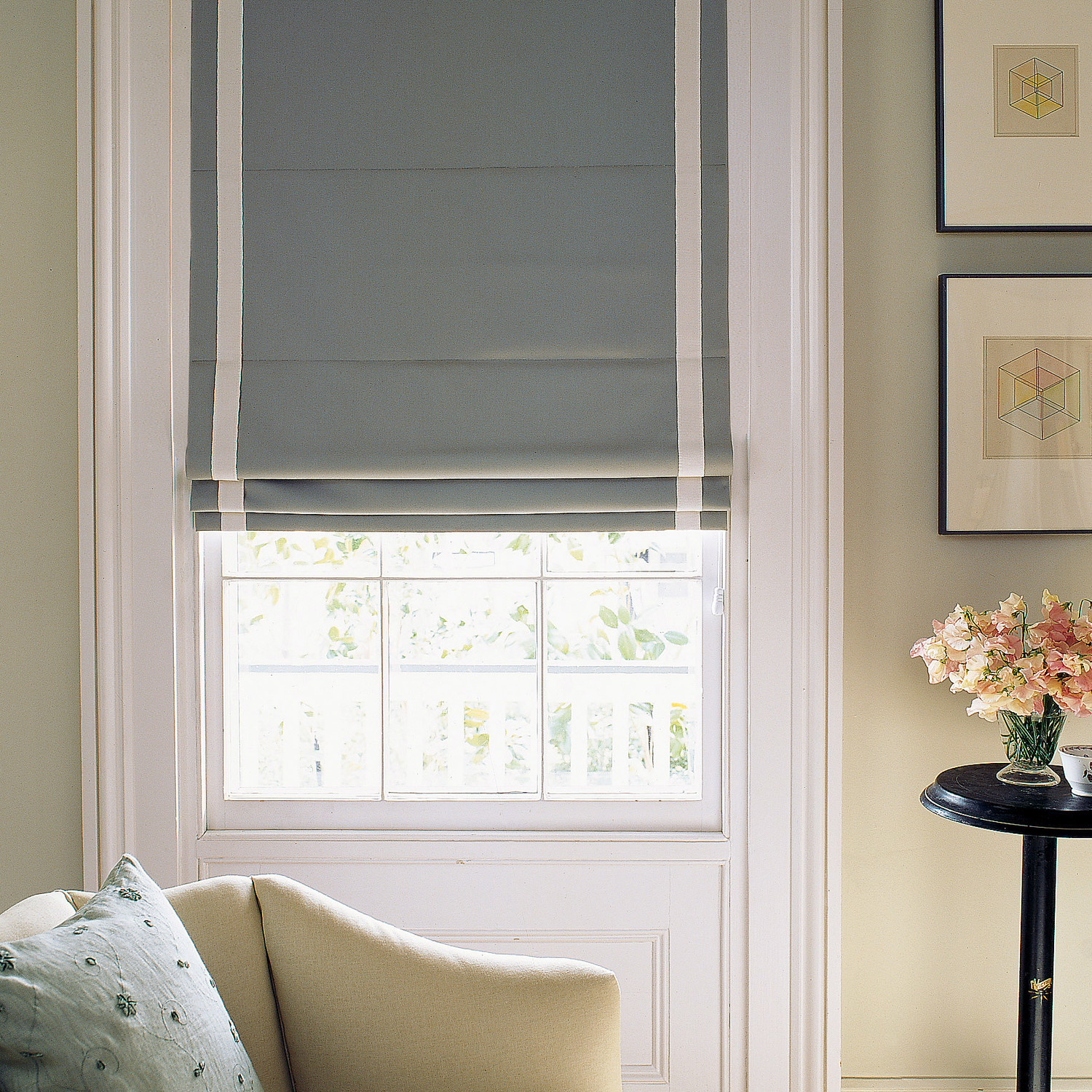 Diy Roman Shades Easy How To Make Roman Shades In Three Different Styles Martha Stewart