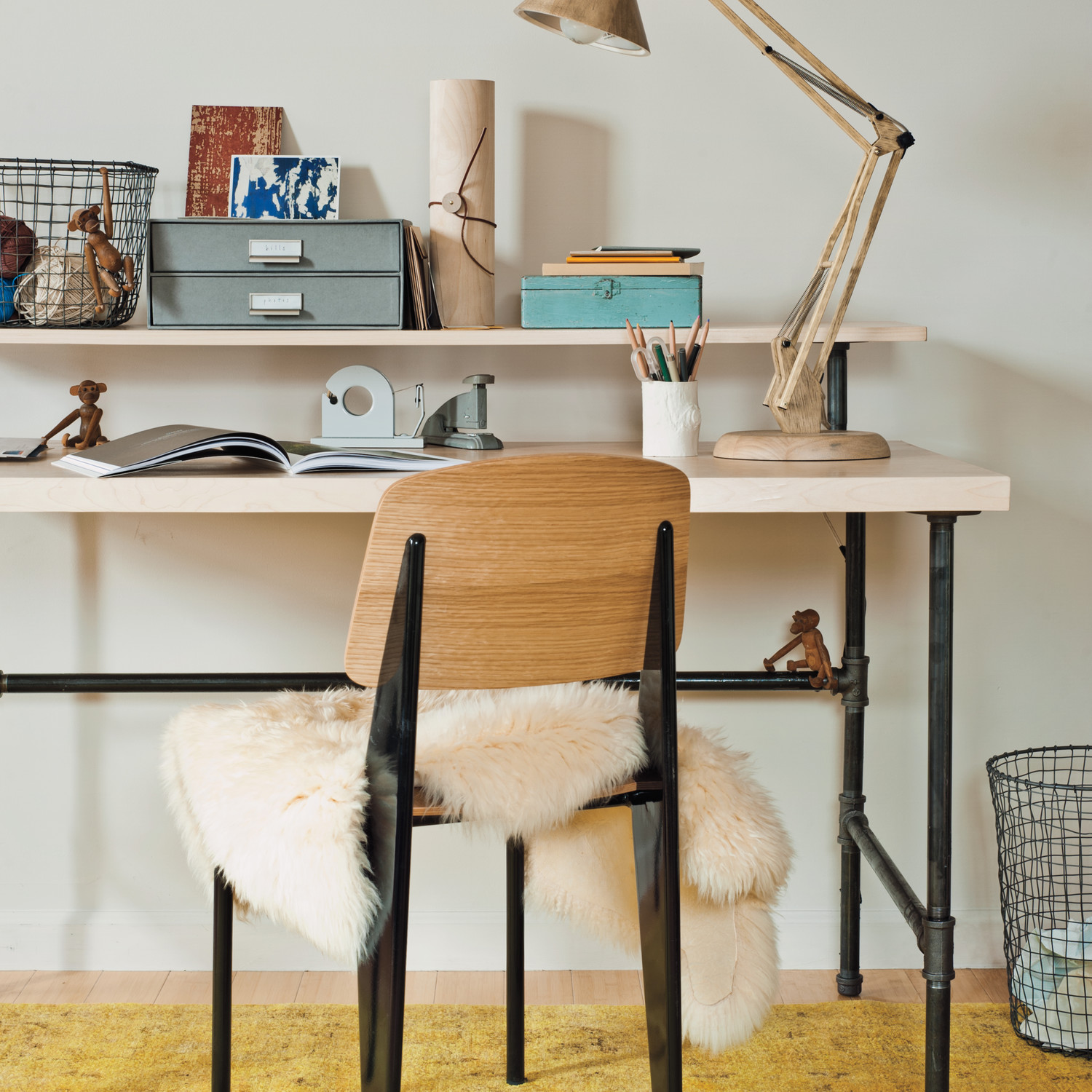 Diy Table Leg Ideas Industrial Chic Desk Martha Stewart