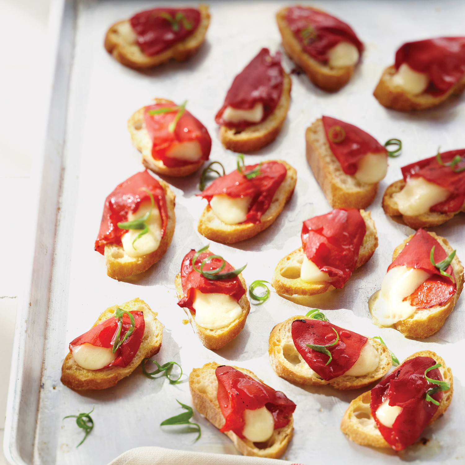 Canapé Sunday But Piquillo Pepper And Cheese Toasts