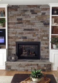 How to Create the Stacked Stone Fireplace Look on a Budget