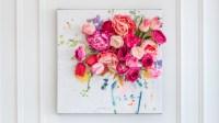 3-D Floral Canvas Wall Art | Martha Stewart