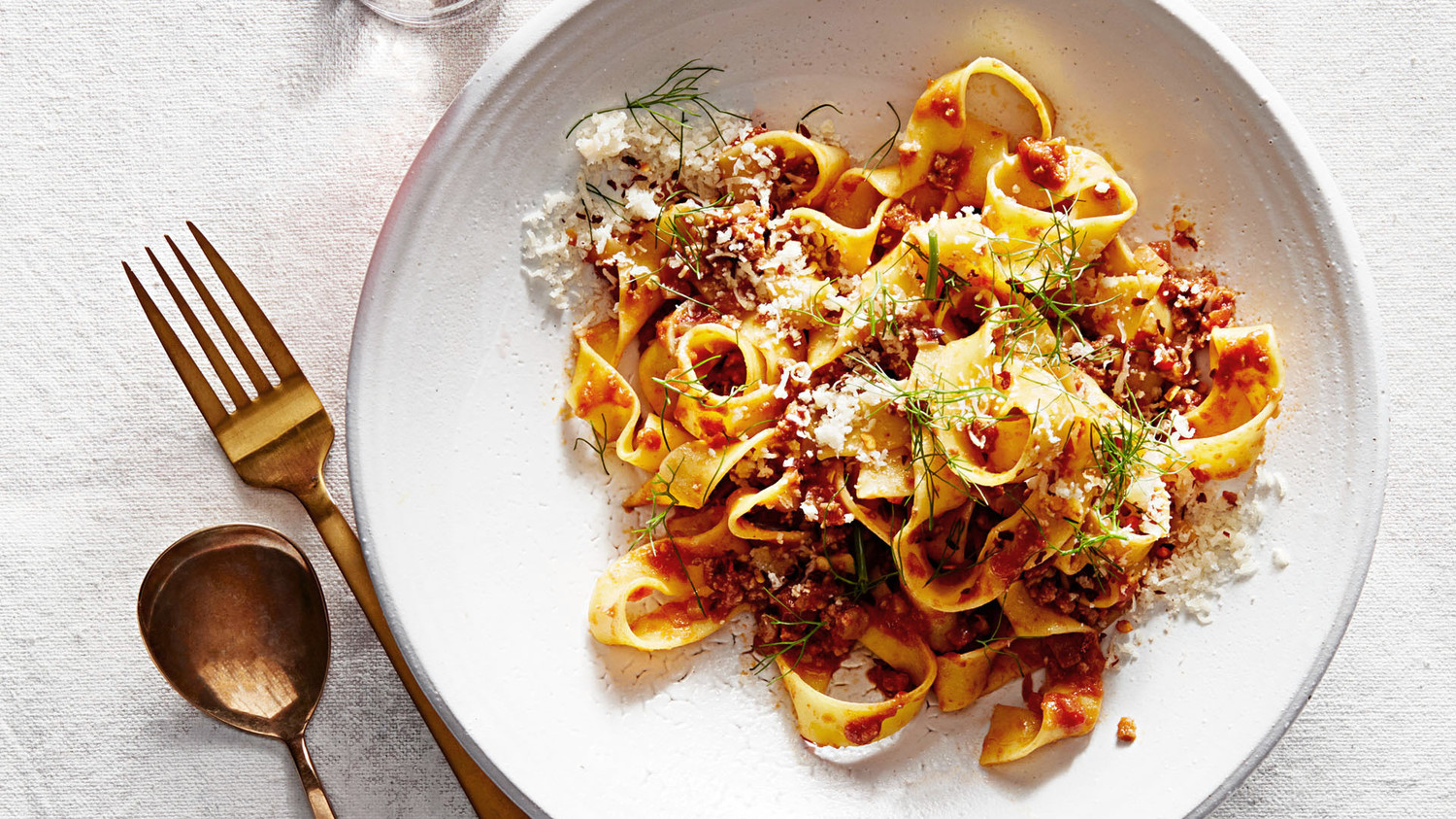 Baby Bath Pappardelle With Quick Fennel Ragu