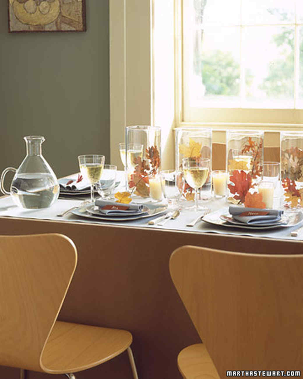 Modern Table Setting Setting A Thanksgiving Table Martha Stewart