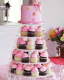 Calm Your Baby Shower Cupcakes Martha Stewart Girl Baby Shower Invite Girl Baby Shower Centerpieces