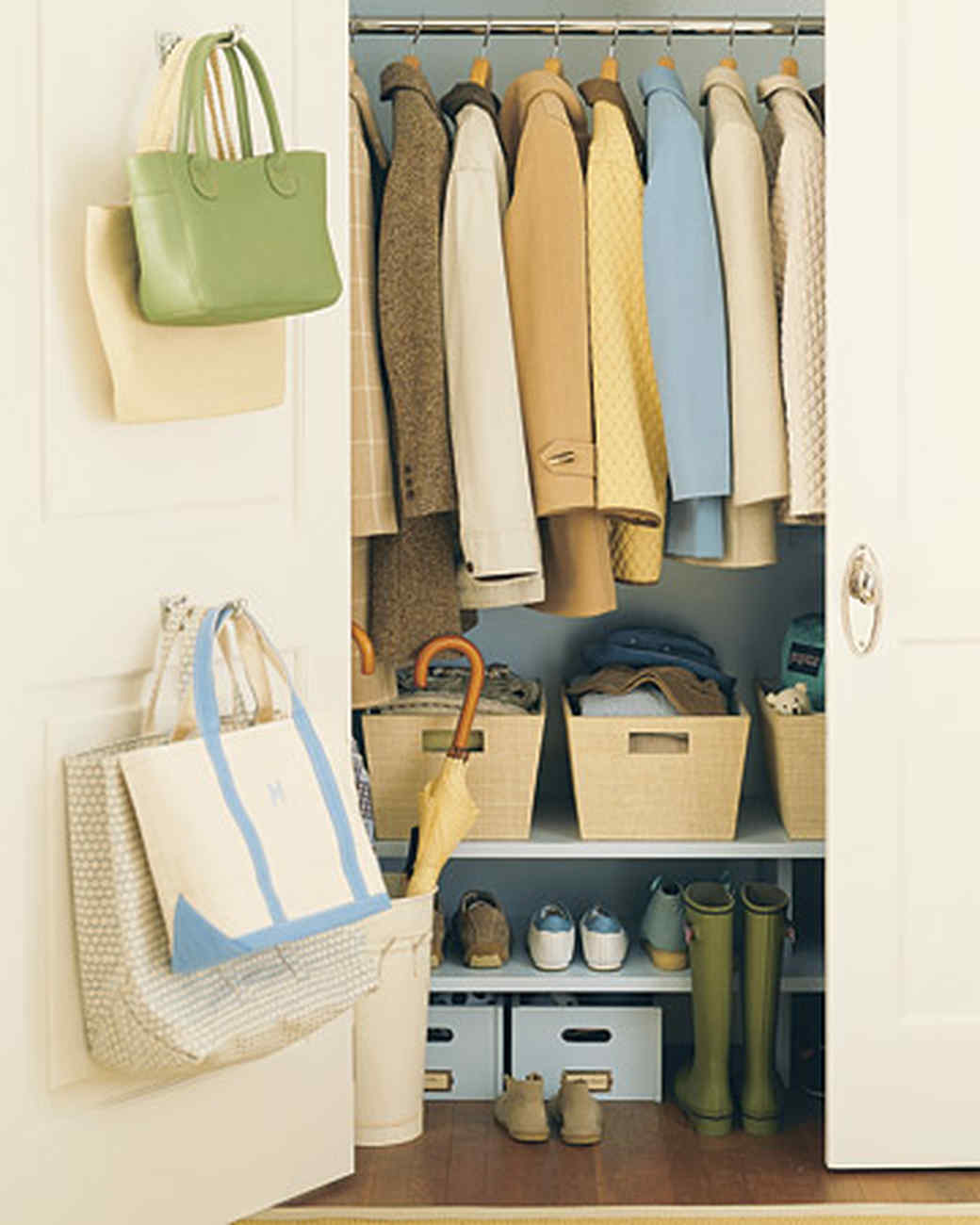 Linen Closet Organizer Systems Save Space In Closets Hallways And More Martha Stewart
