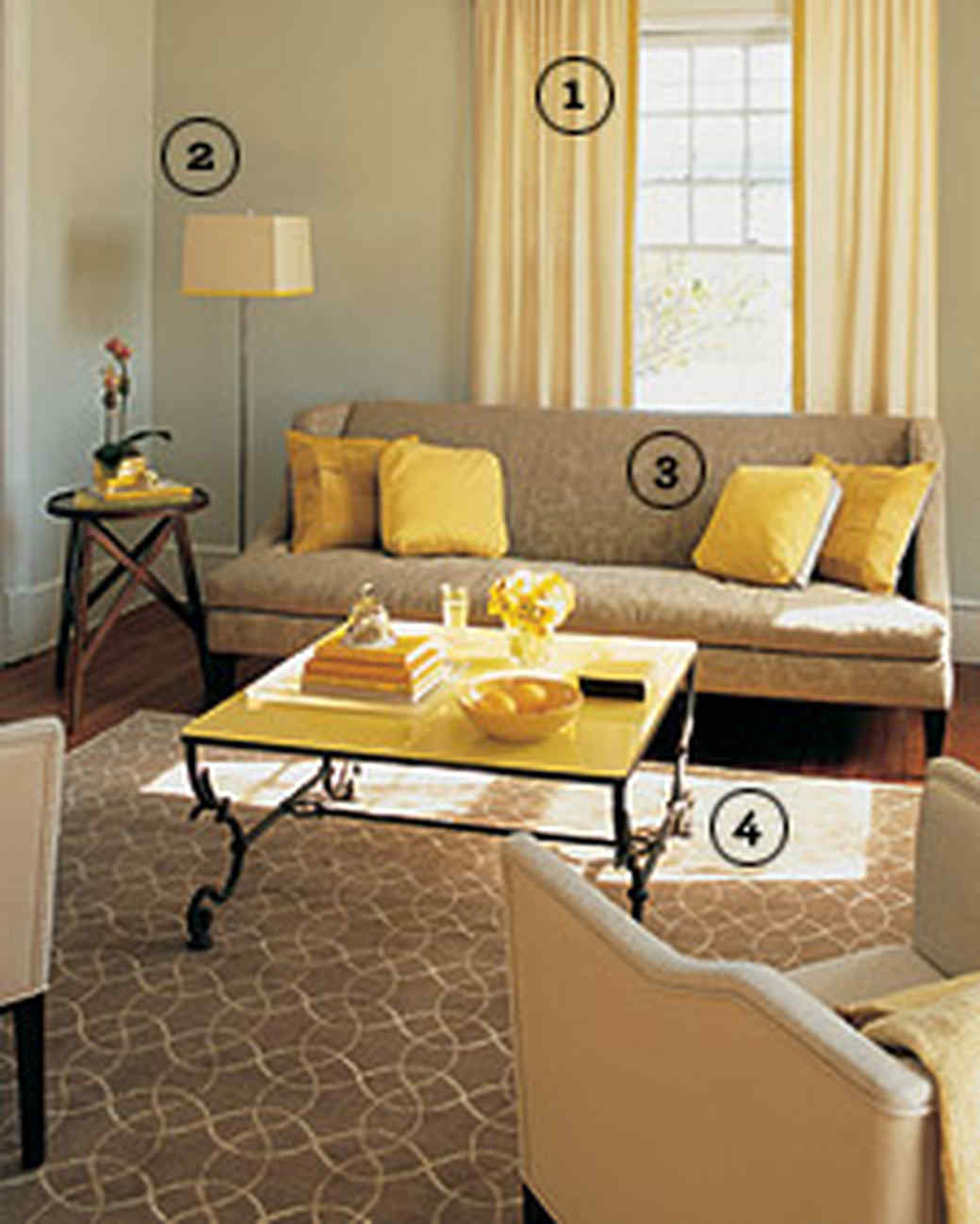 Blue And Yellow Living Room Decor Yellow Rooms Martha Stewart