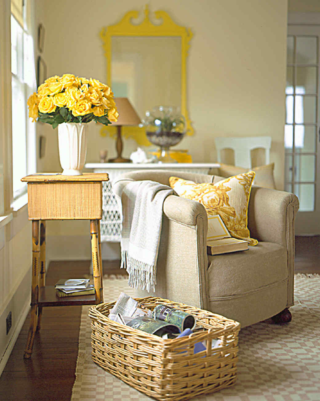 Yellow Decor For Living Room Yellow Rooms Martha Stewart