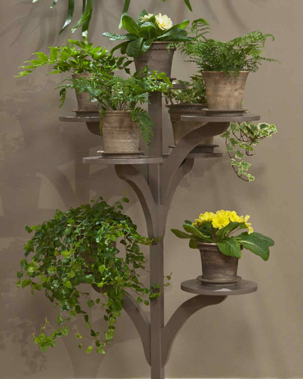 Indoor Wall Mounted Plant Holders Make A Plant Stand And Video Martha Stewart