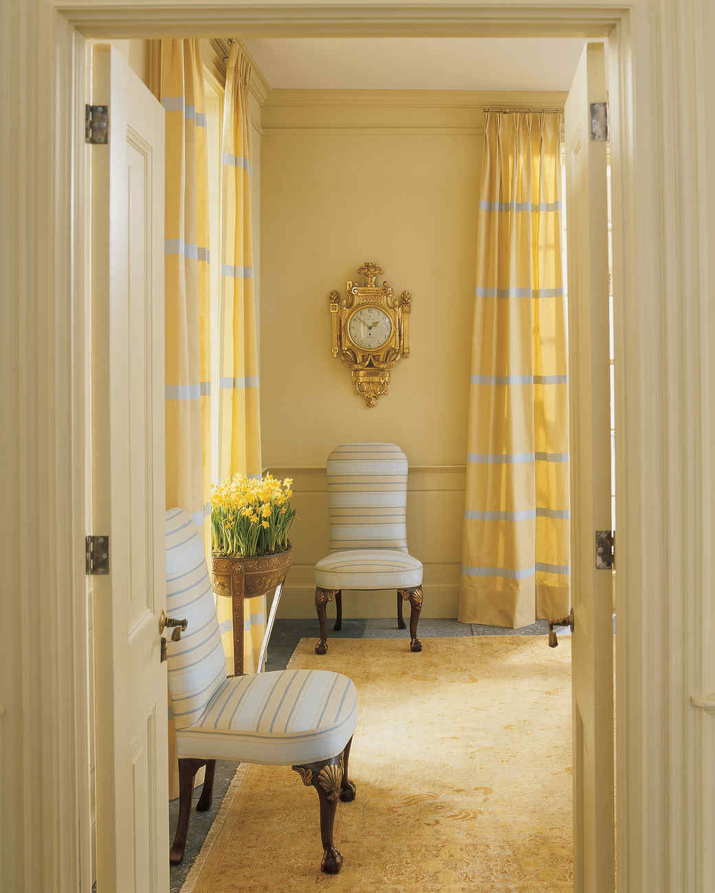 Kitchen Curtains For Yellow Walls Yellow Rooms Martha Stewart