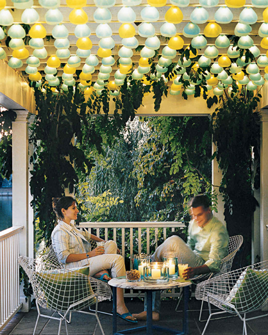 Outdoor Party Lights Party Lighting Ideas Martha Stewart