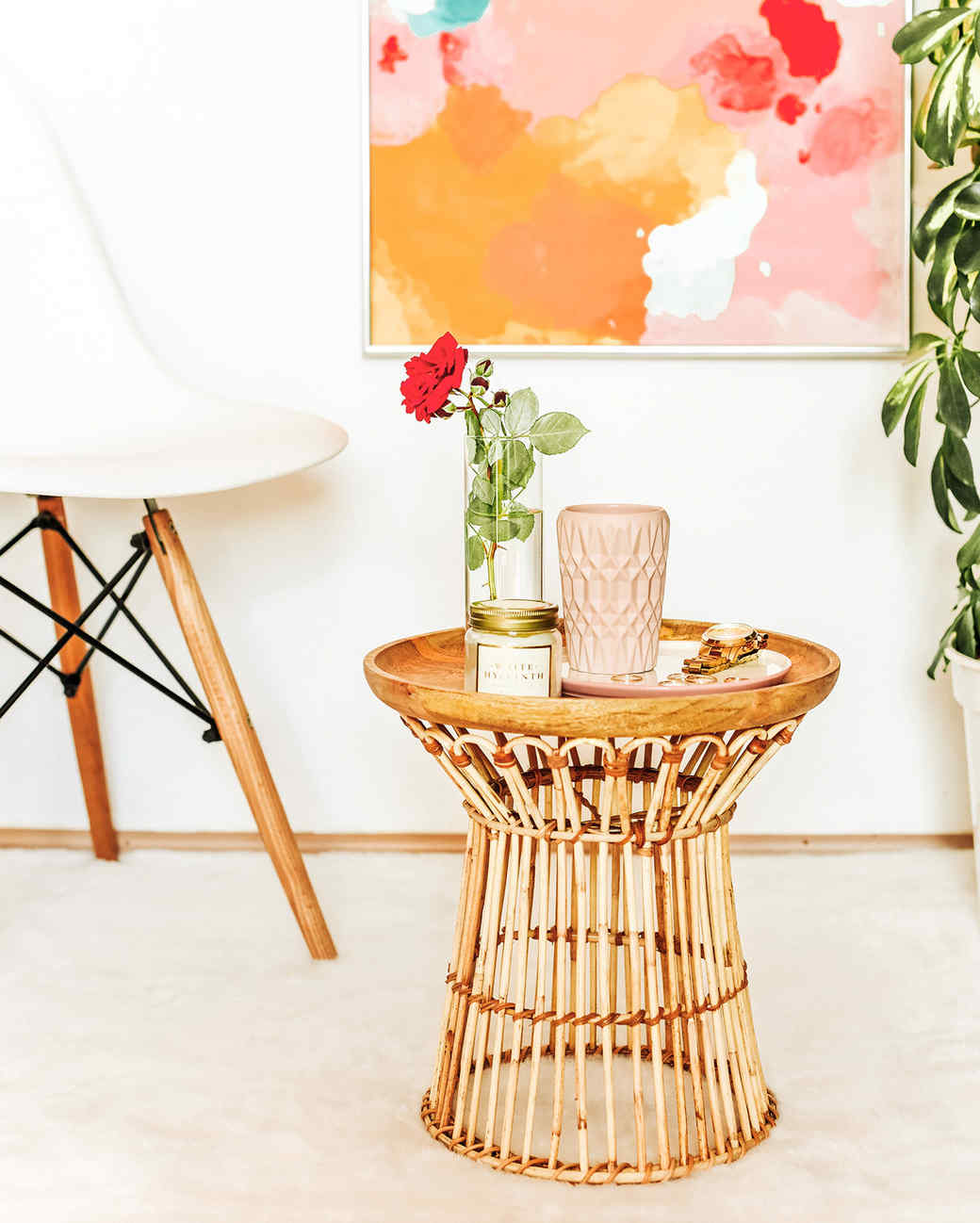 Rattan Table Diy Rattan Side Table Martha Stewart