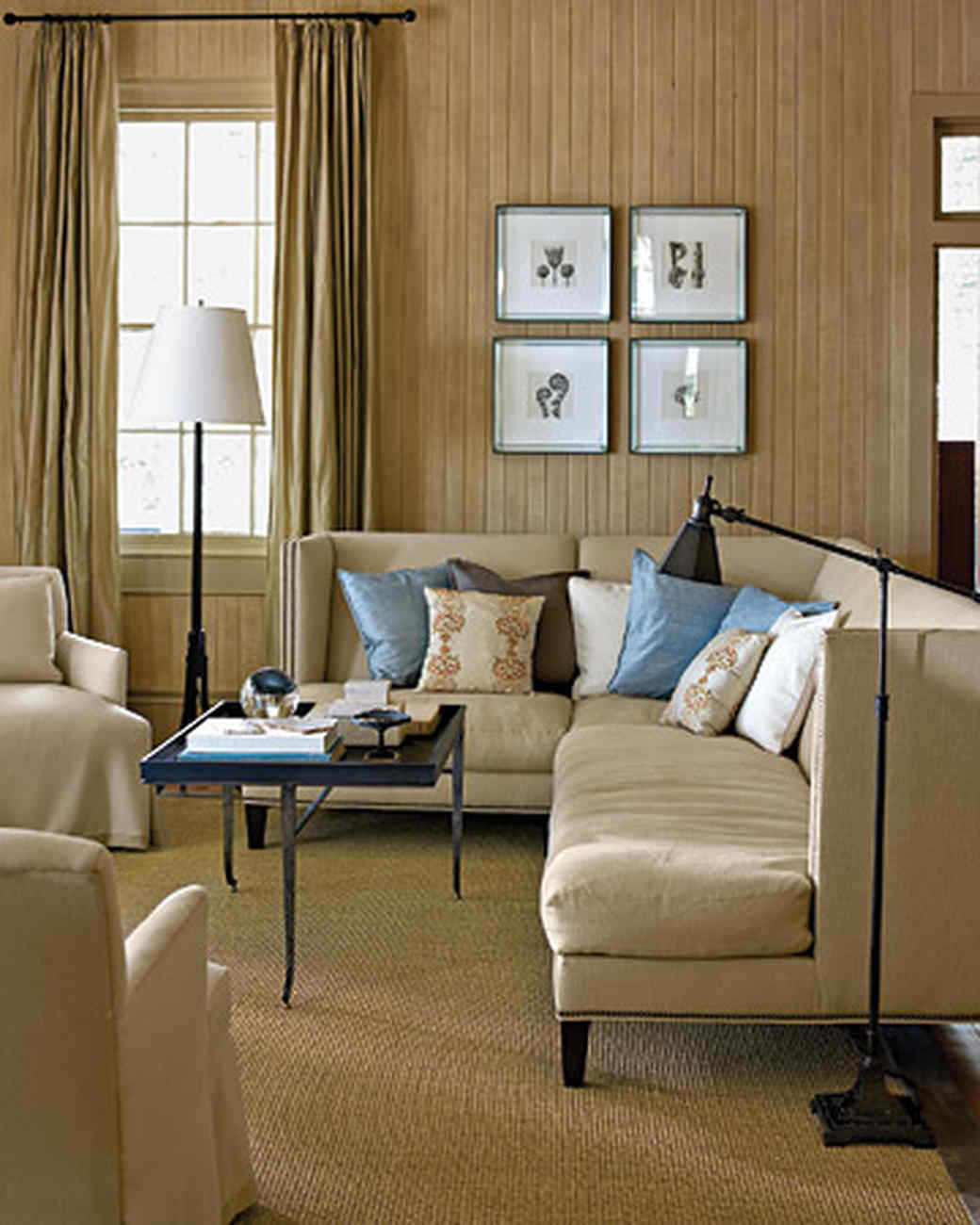 What Color Curtains With Blue Walls Brown Furniture Neutral Rooms Martha Stewart