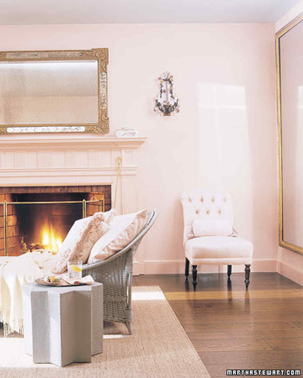 Pink And Grey Living Rooms Pink Rooms Martha Stewart