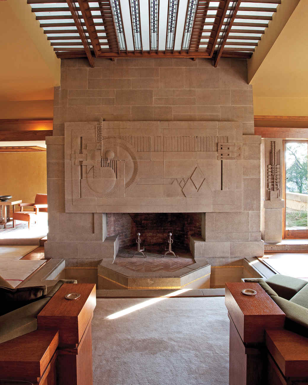 Frank Lloyd Wright Fireplace Screen Straight From The Hearth Beautiful Fireplace Surround