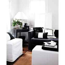 Small Crop Of Black And White Living Room