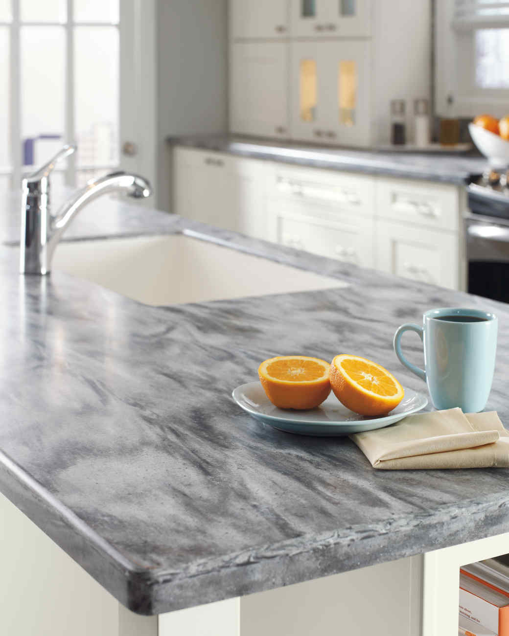 Kitchen Countertop Edges Home Depot Quartz And Corian Countertops Martha Stewart