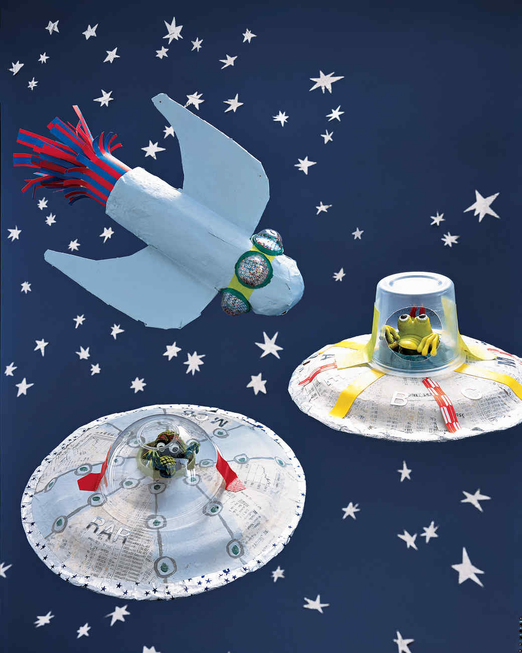 Space Crafts For Kids Papier Mache Vehicles Martha Stewart