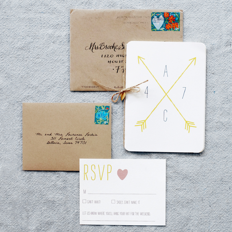 wedding stationery glossary wedding stationery Crossed Arrows The Symbol of Friendship Is Making Its Mark on Wedding Stationery