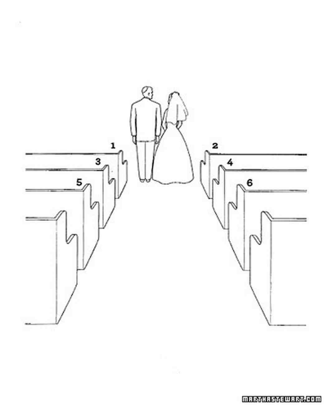 diagram of wedding aisle