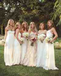 10 Bridal Parties Wearing White At Real Weddings | Martha ...