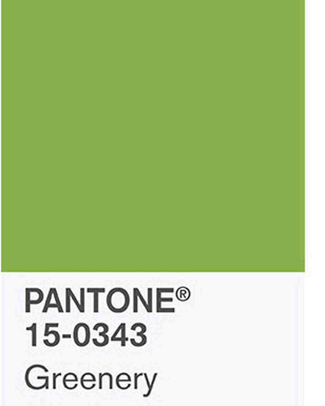 Pantone Greenery Wedding Color Ideas Inspired By The 2017 Pantone Shade