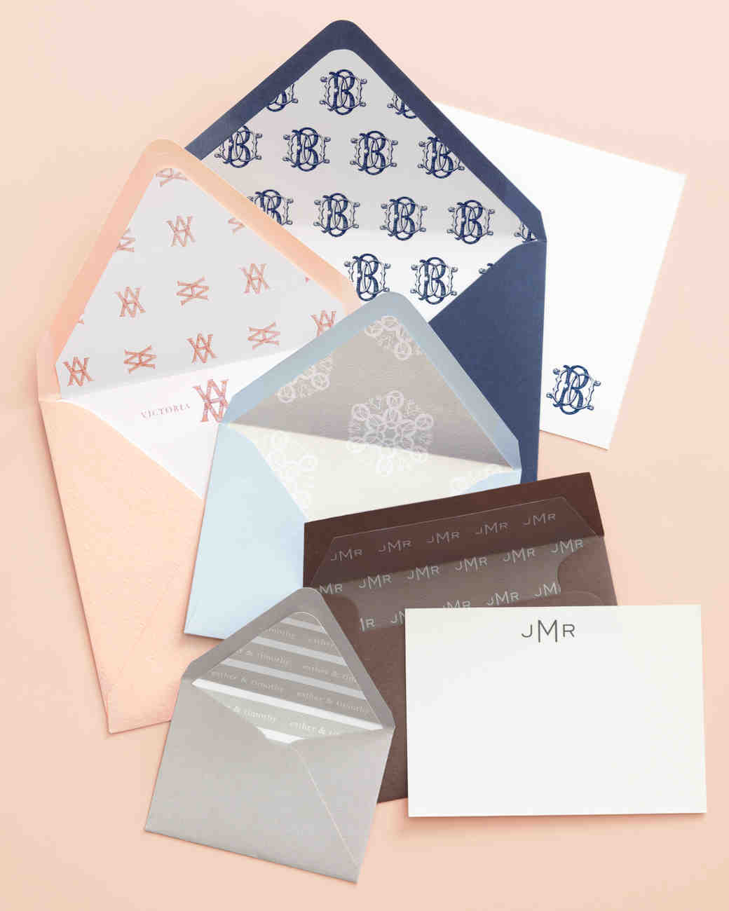 special touches wedding invitations wedding invitation envelopes DIY Monogram Envelope Liner