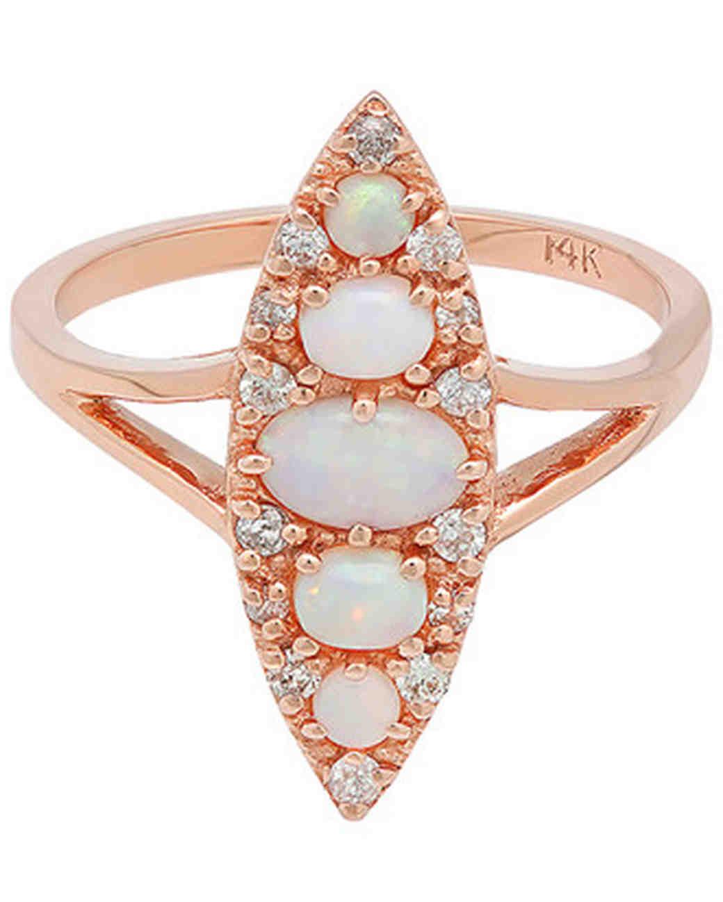 opal engagement rings amber wedding ring