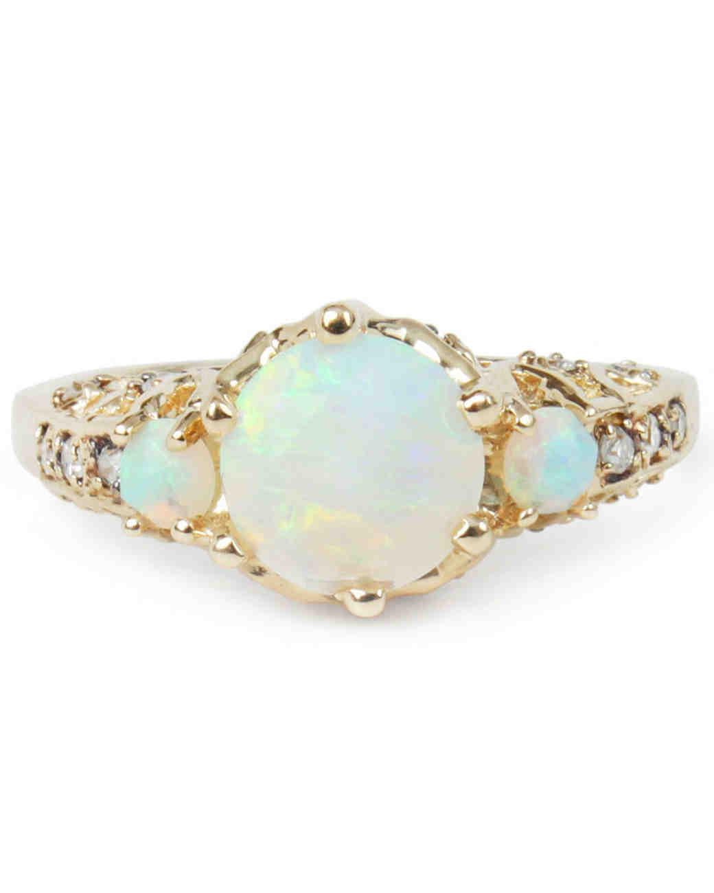 opal engagement rings blue opal wedding rings