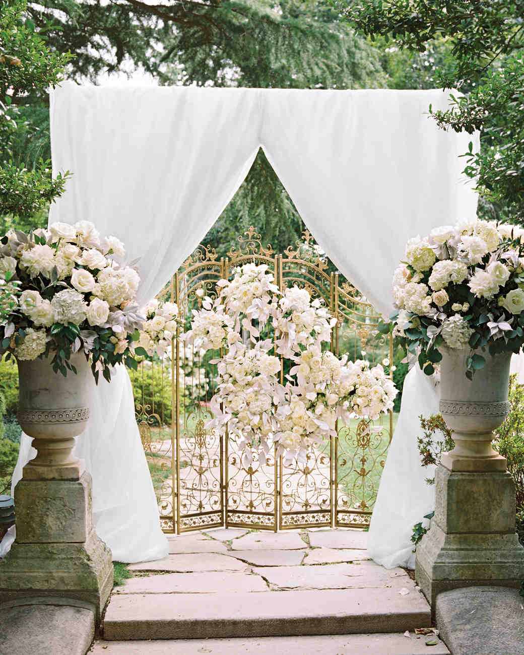 ceremony wedding arches wedding canopy 59 Wedding Arches That Will Instantly Upgrade Your Ceremony Martha Stewart Weddings