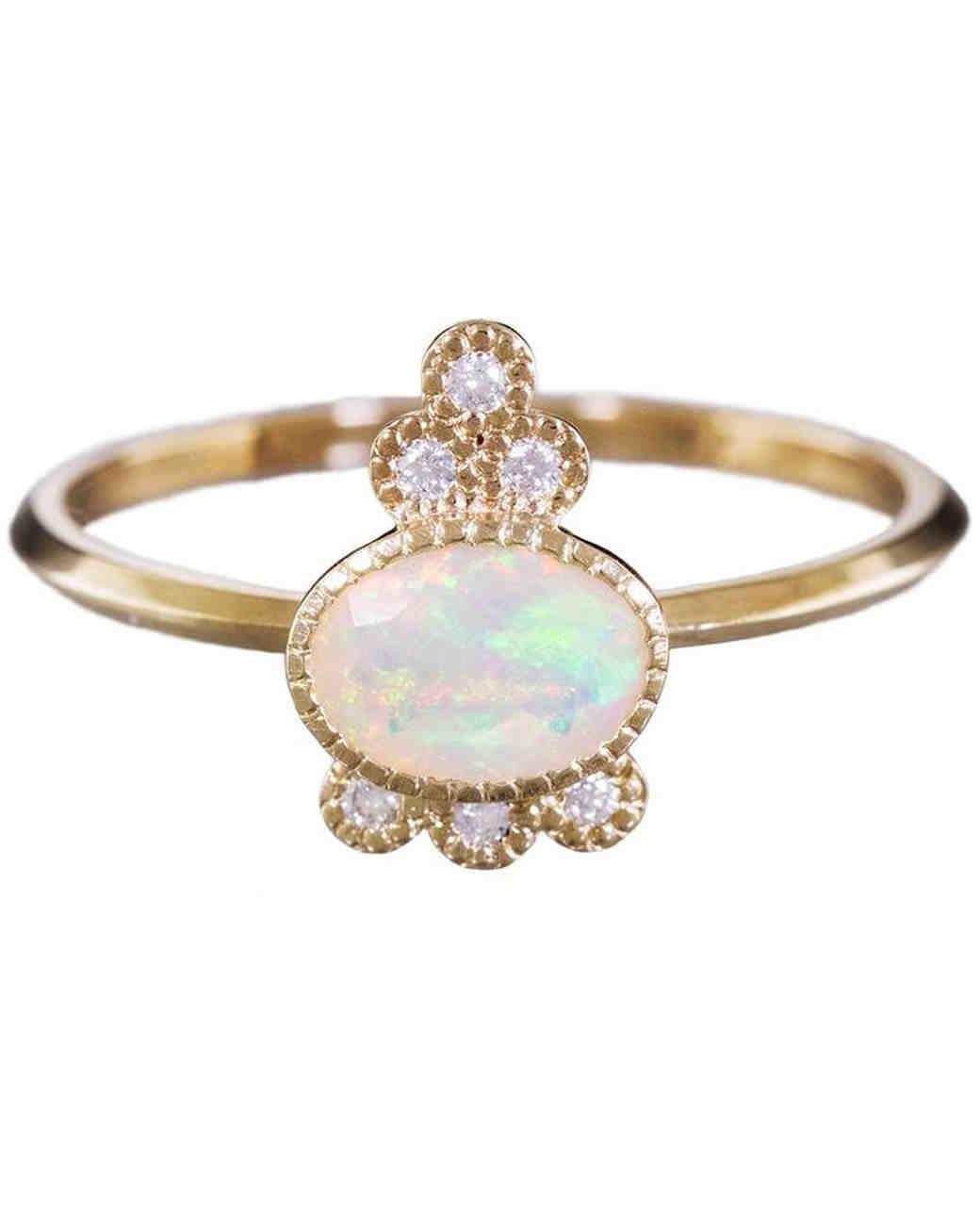 opal engagement rings opal wedding ring sets