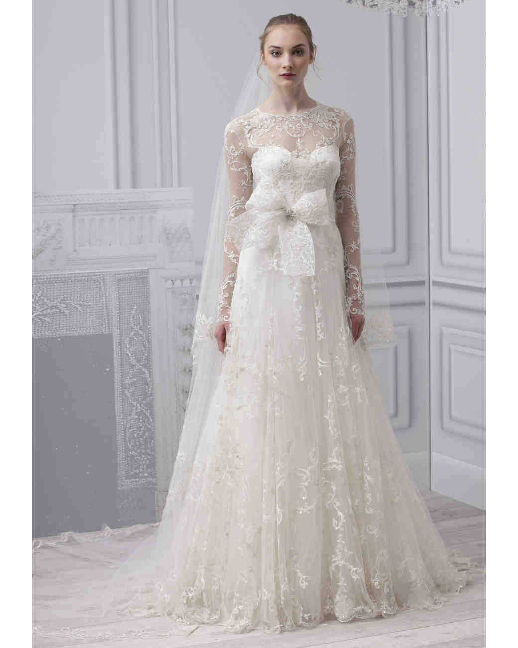 long sleeve wedding dresses spring bridal fashion week long dresses for weddings Monique Lhuillier