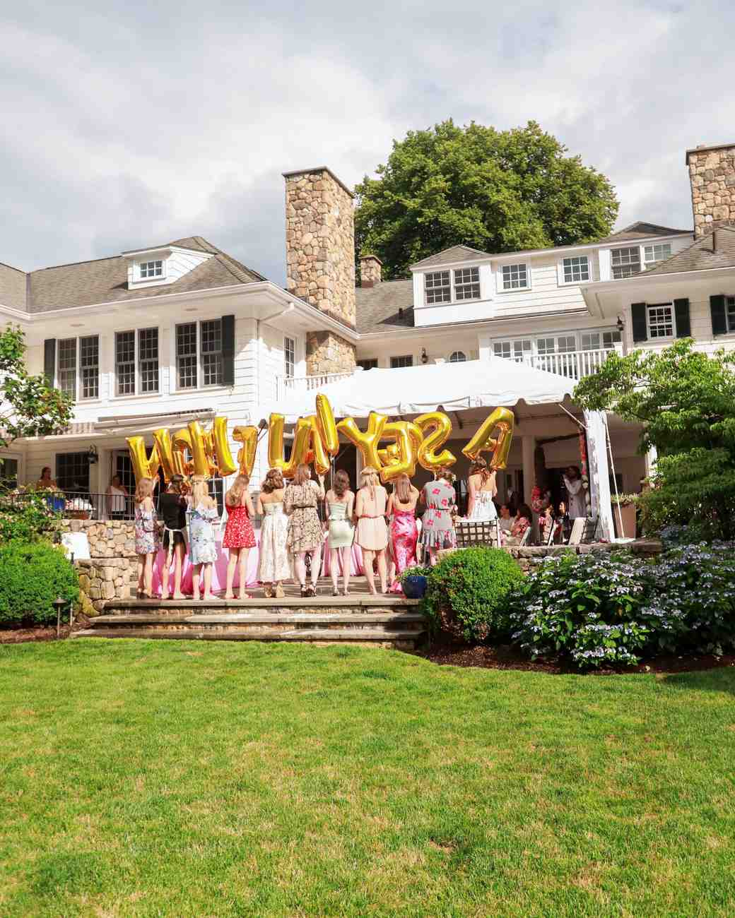 Backyard Shower An Elevated Backyard Bridal Shower With A Pink Color Palette
