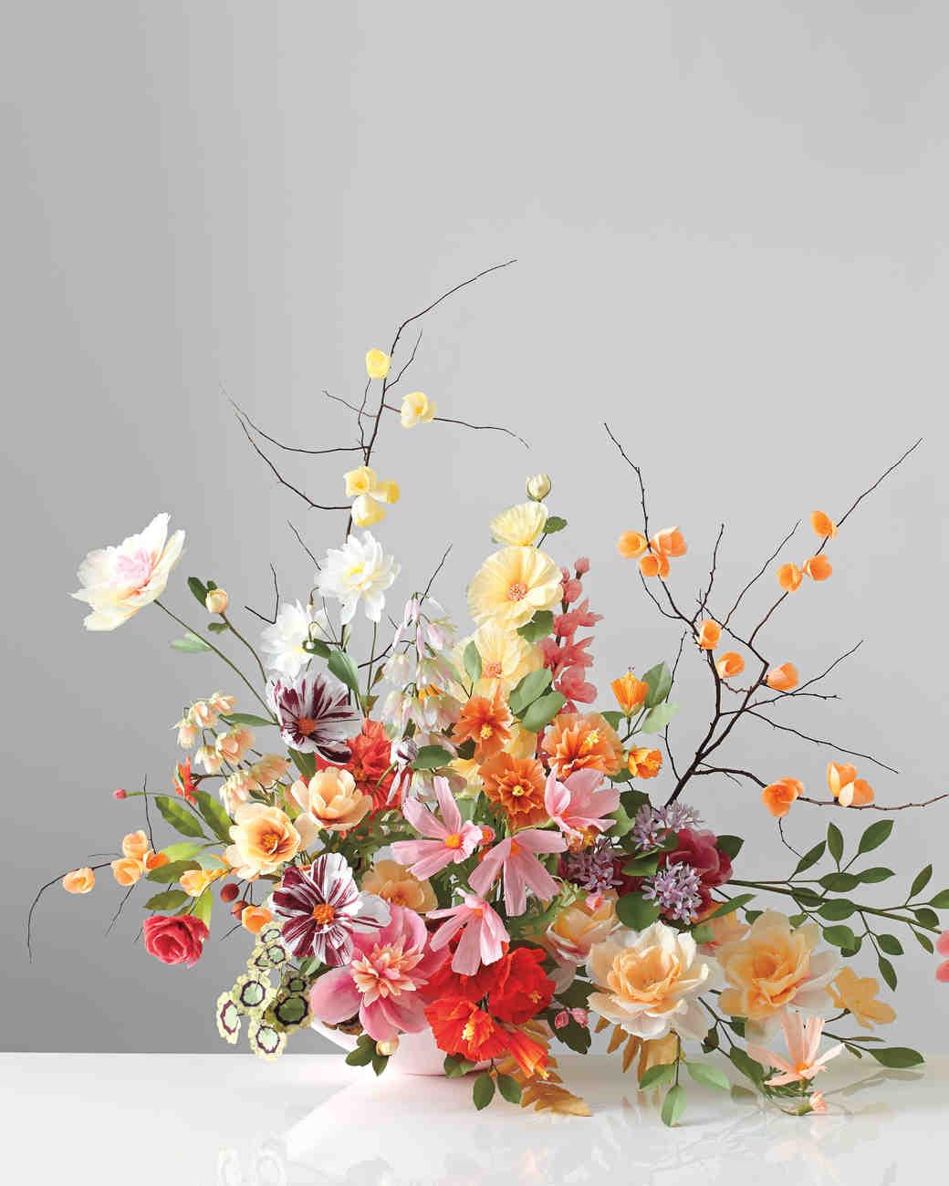 Orange Fall Peonies Wallpaper How To Make Paper Flowers Martha Stewart Weddings