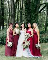 Burgundy Bridesmaid Dresses | Martha Stewart Weddings