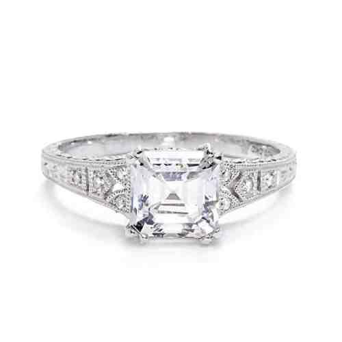 Medium Crop Of Asscher Cut Engagement Rings
