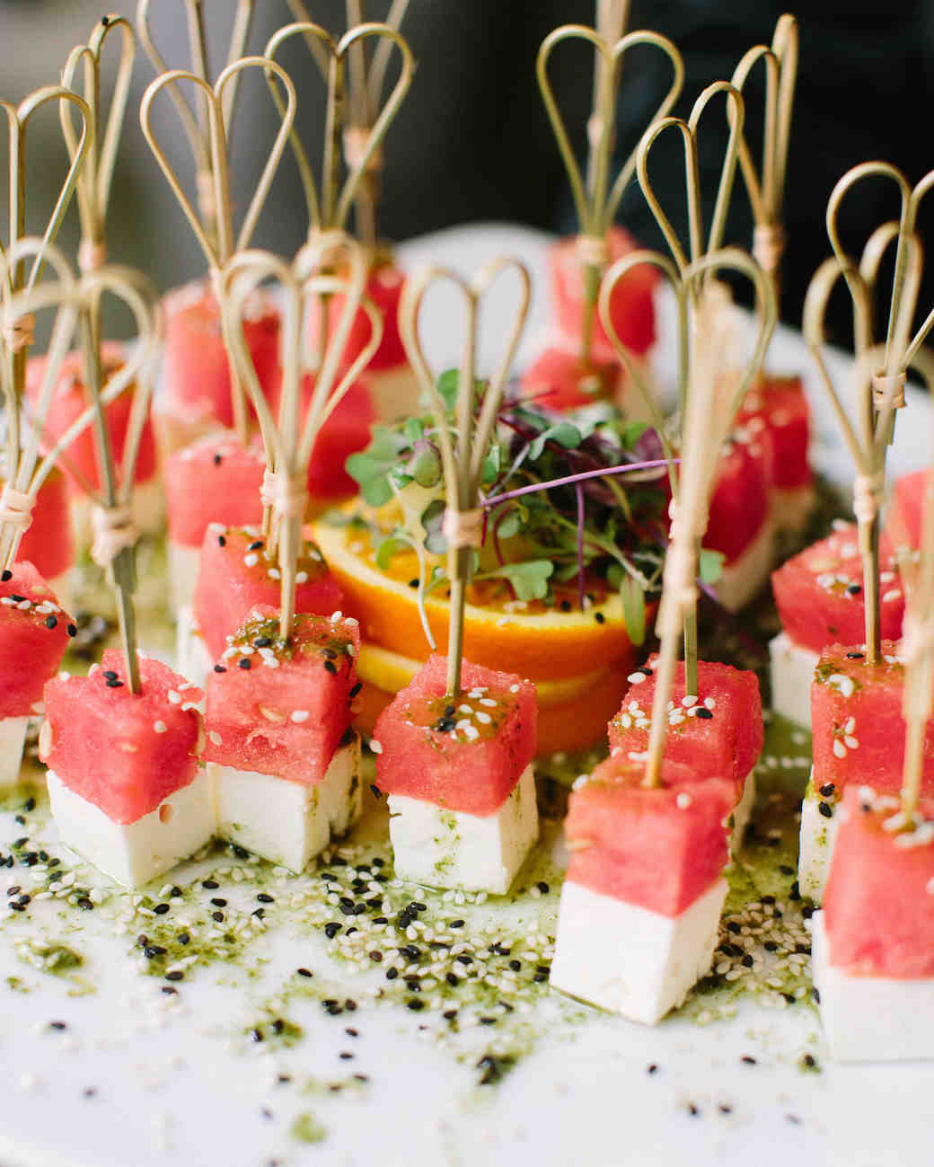 Canapés Wraps 20 Delicious Bites To Serve At Your Bridal Shower Martha Stewart